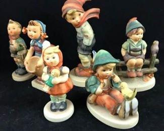 Six Vintage Hummels
