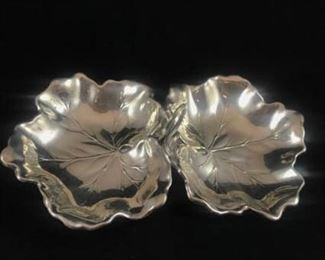 Sterling Silver Double Leaf Candy Fish