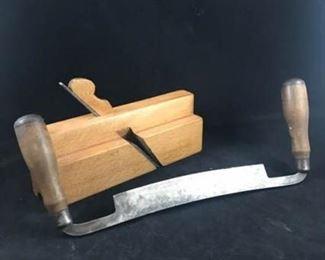 Vintage Drawknife and Planer