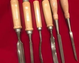 Woodworking Gouges and Mortise Chisels