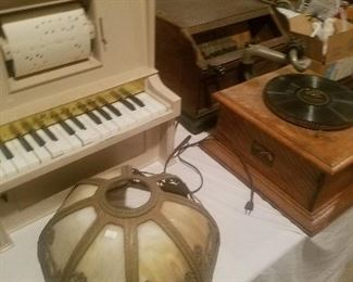 TONS OF ANTIQUE EDISONS, ORGANETTES, PAPER ROLLS, CYLINDERS, COBS ETC