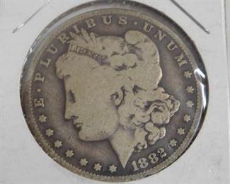 1882 -o Morgan Silver Dollar