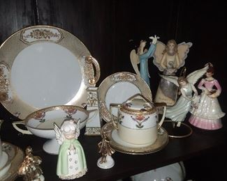 Assorted China & Angels