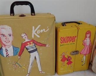 Vintage Ken and Skipper Doll Cases