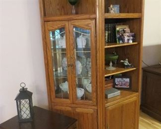 Curio cabinet (two matching)