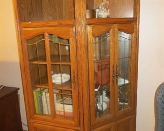 Matching curio cabinet.
