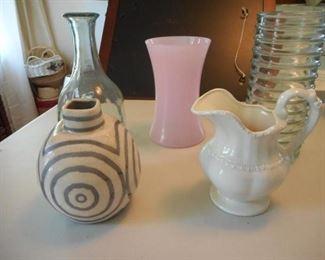 Lot of 5 vases, modern & vintage https://ctbids.com/#!/description/share/166465