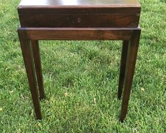 Antique Glove Box with Stand
