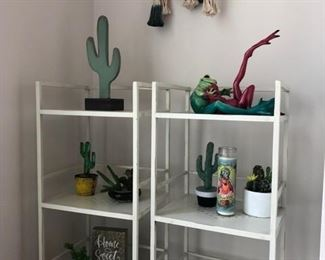 shelves and art