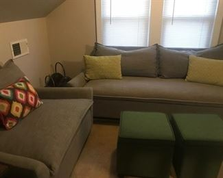 West elm couch and chair