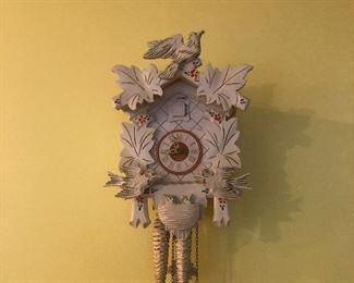 albino cuckoo clock!