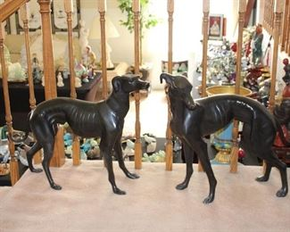 "Bronze Whippet Pair ""Puppies"""