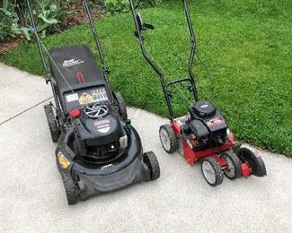 Push mower and gas edger