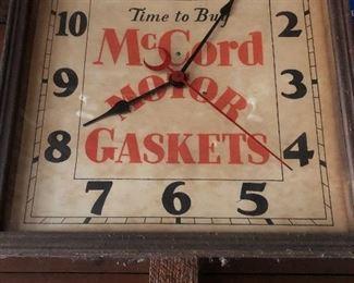 McCord Motor Gasket Clock!