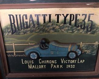 Bugatti Hand Painted Sign