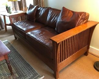 Sophisticated Stickley Leather Couch.  The owners drove to the actual factory to pick it up.