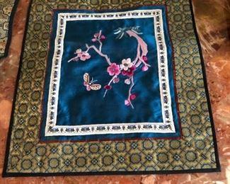 Asian silk tapestry