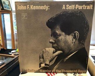 John F. Kennedy: A Self-Portrait LP of spoken word