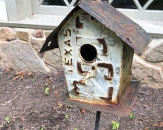 Texas license plate birdhouse