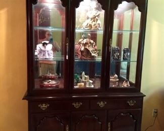 Drexel Cherry china cabinet $195