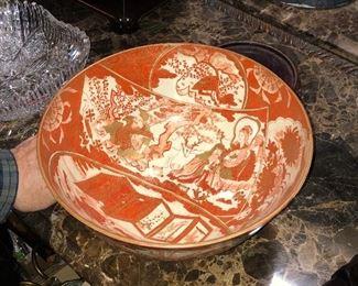 Ancient JAp[anese bowl Satseuma family and signed