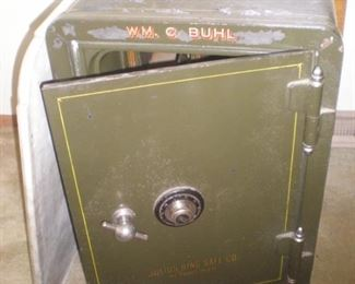Antique heavy duty floor safe with combination, Wm. C. Buhl.