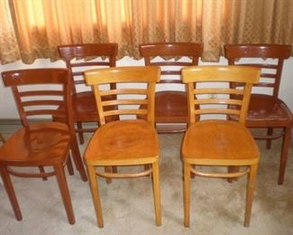 Set of seven matching antique chairs (there are only six pictured, I found another blonde one after I took the photo).