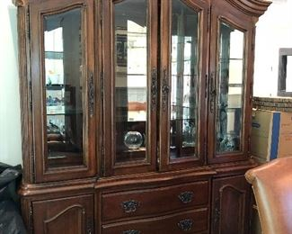 Bernhardt China Cabinet - Lighted