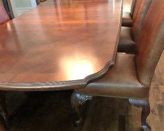 Bernhardt Dining Table, 2 Leaves, 8 Chairs