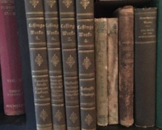 Vintage antique books