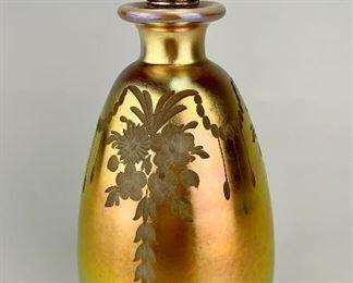 Steuben Etched Perfume Bottle