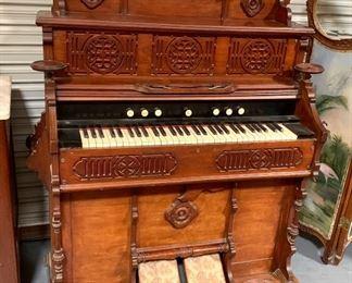 Victorian Walnut Organ by J.W. Andrew