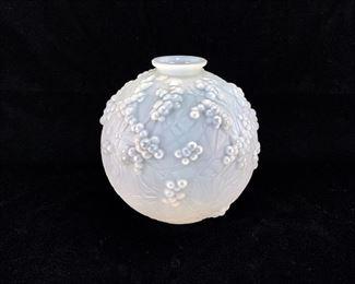 """R. Lalique """"Druide"""" Opalescent Vase C. 1912"""