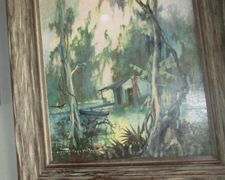 "Colette Heldner, ""Swamp Idyll"". Superb painting"