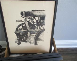 Rolland Golden signed and numbered this set of EIGHT framed Civil War prints.