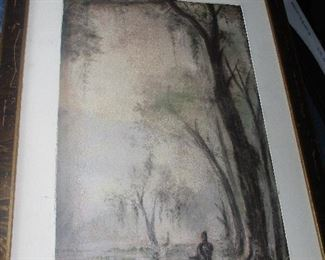 "Joseph Meeker, ""Louisiana Indian in a swamp"", pastel study for a Meeker oil"