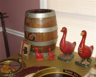Cream City Brewery pre-Prohibition Beer Keg and Red Goose Shoe collectibles