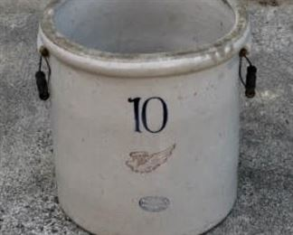 Red Wing 10 gallon jar with handles