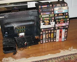 Neo Geo gaming system with lots of early games