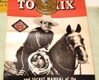 Tom Mix Badge and Manual
