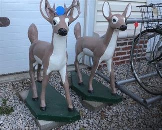 Solid Concrete Deer Statues