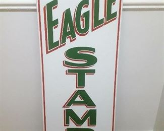 "14.5"" x 40""  Excellent condition authentic porcelain sign. Stored indoors for decades; rust only by mounting.  Becoming rare."