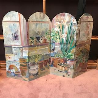 Hand Painted table screen by Artist Anita Ambrose