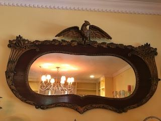 Large 19th c Eagle decorated Mirror