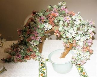 """glass jade bonsai tree    BUY IT NOW  $ 65.00    24"""" LONG AND 14"""" TALL NICE LARGE PIECE"""