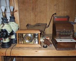 50s lamps, cash register