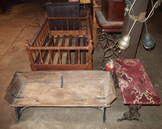 Buggy seat, crib, bench