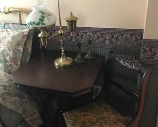 Antique Mahagony furniture and Antique table light