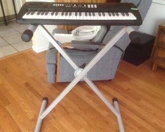 Standing keyboard.