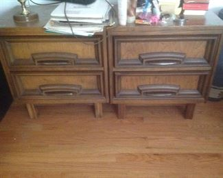 Pair of nightstand....match bedroom set.  Whole set is $235.  Nightstands are $30 each and available for presale